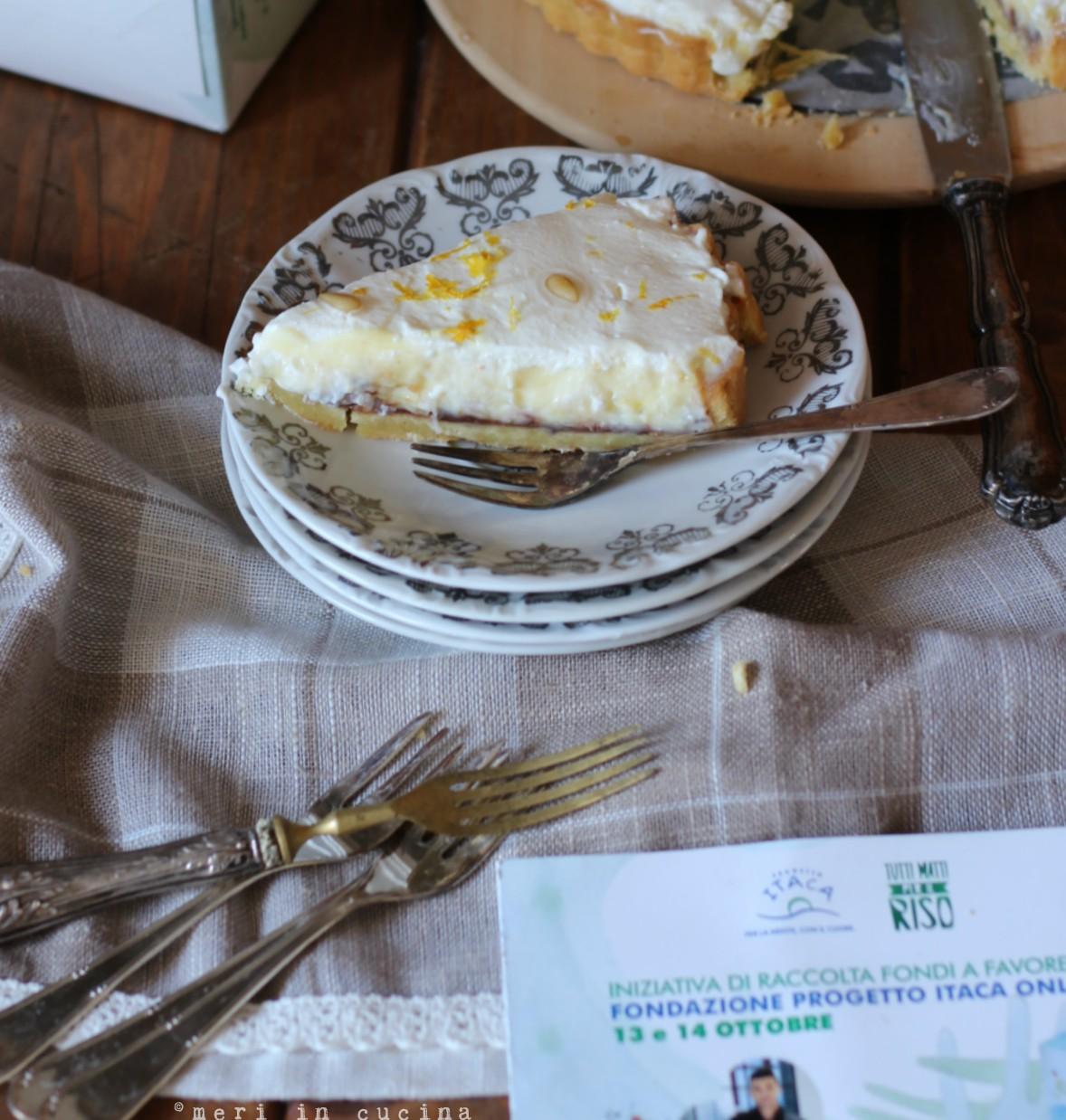 una buonissima torta di riso e ricotta