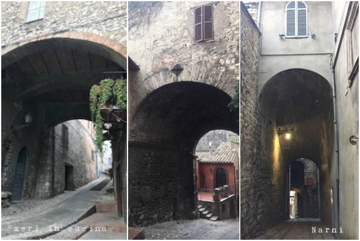 Gli archi di Narni in Umbria,, cittadina medievale