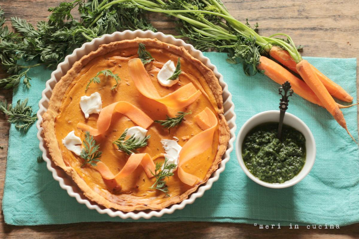 una deliziosa e profumata crostata di carote