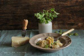 Un piatto succulento, fave e pecorino nel ripieno dei ravioli