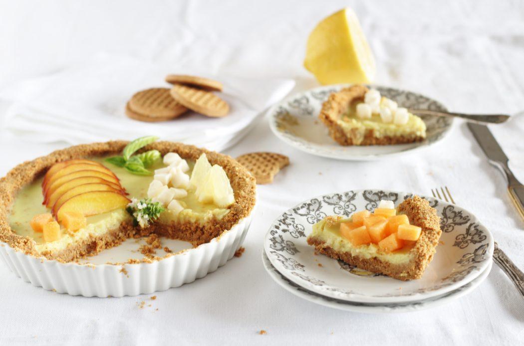 un aroma fresco e piacevole per questa torta senza cottura