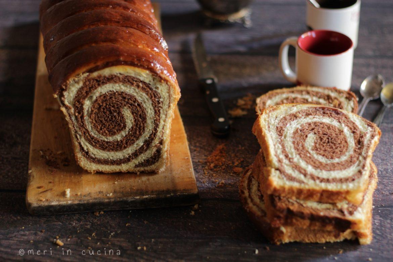 pan brioche bicolore al cioccolato